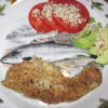 crispy bass fillets with lots of fresh spices