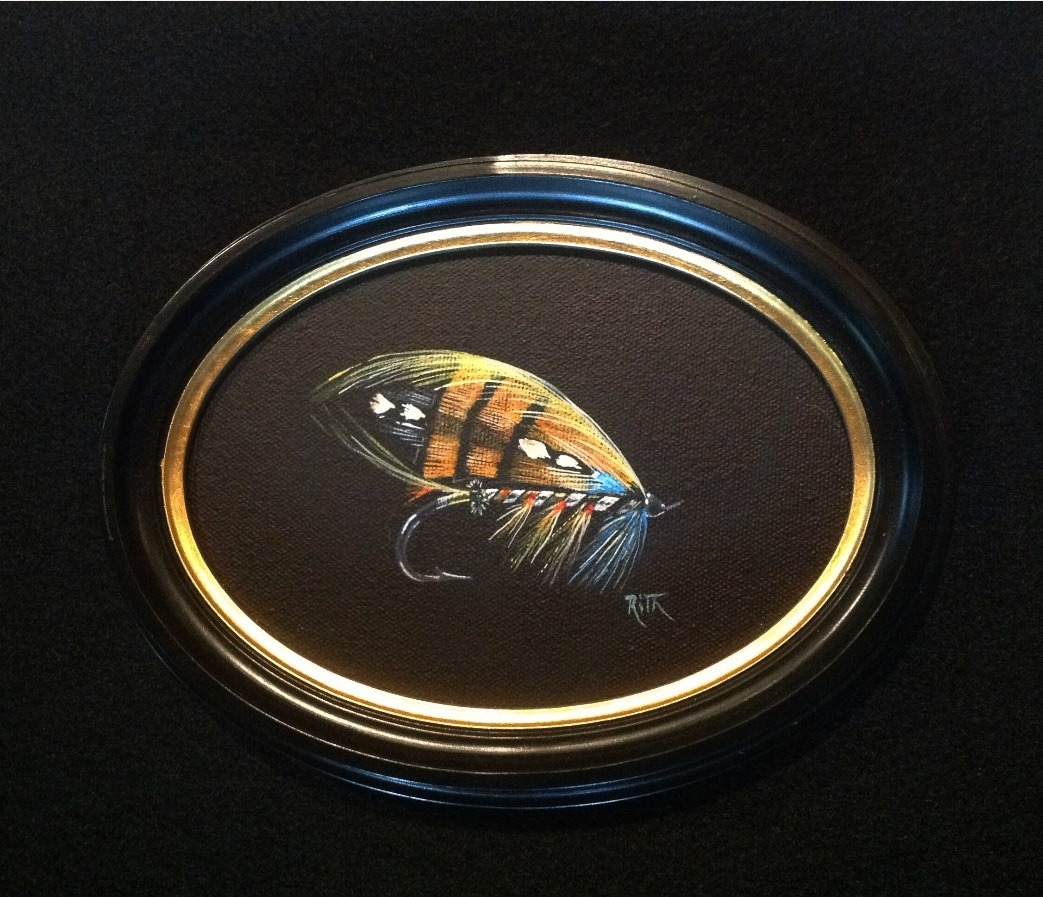 Durham Ranger hand painted salmon fly