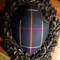 Radecliffe Tartan on the Legacy Antler Panel in Blackberry