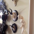 Safari Lifestyle-vintage horns elegantly re-purposed by Heritage Game Mounts