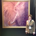 "Rita Schimpff with ""Tusk"" by John Banovich"
