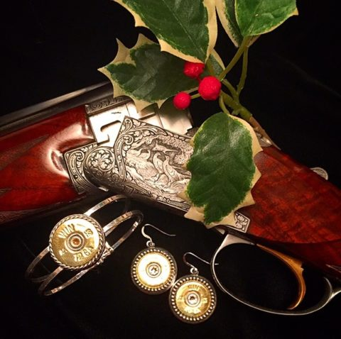 12 gauge bracelet and companion 20 gauge dotted dangle earrings from Heritage Game Mounts