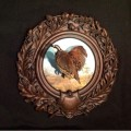 Bob White Quail on hand painted Oak Leaf Panel by Rita Schimpff for Heritage Game Mounts