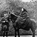 Victorian Taxidermy -Queen_Victoria, John Brown and 'Fyvie' ,_photographed_by_George_Washington_Wilson_(1863)