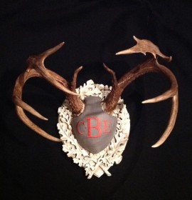 The Legacy Monogram Antler Panel