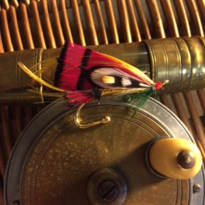The Gaudy Parson Fly Fishing Lapel Pin
