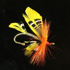 fly fishing lapel pin